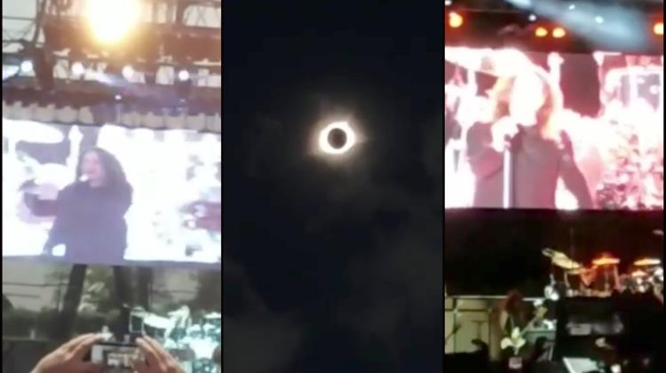 Ozzy cantó Bark at the Moon durante eclipse (Video)