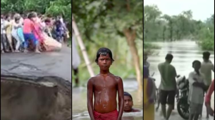 Fuertes inundaciones en India, Bangladesh y Nepal (VIDEO)