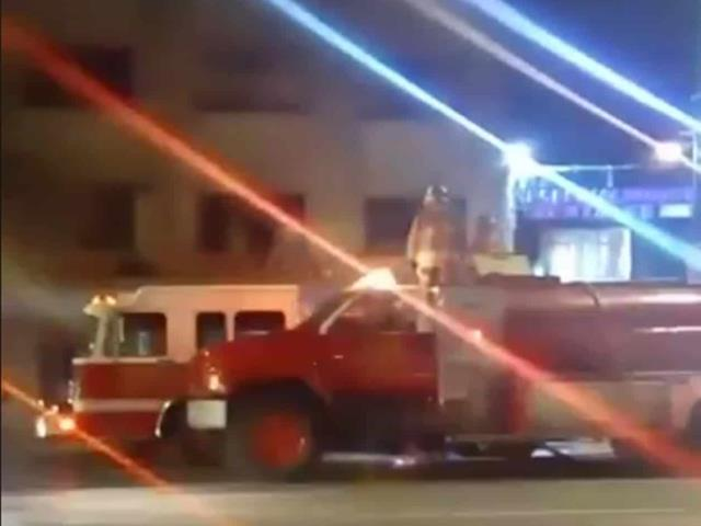 Se registra incendio en edificio de Eje Central