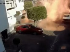 Video: Captan explosión de tanque de gas en la CDMX