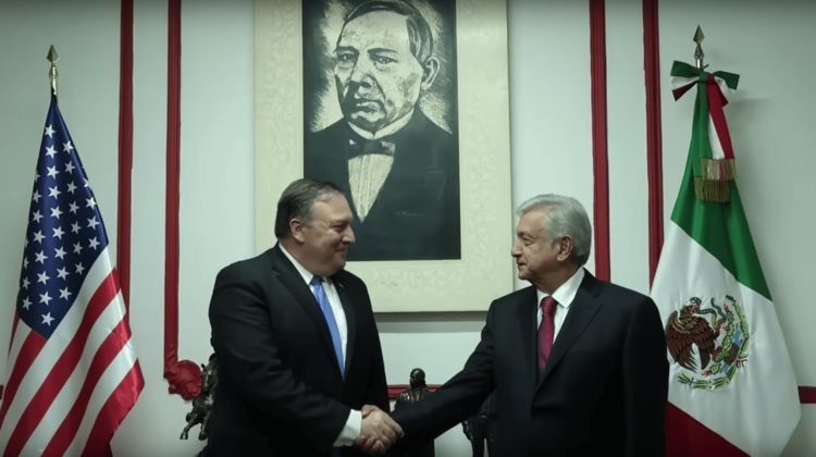 Reunión de AMLO con Mike Pompeo (VIDEO)