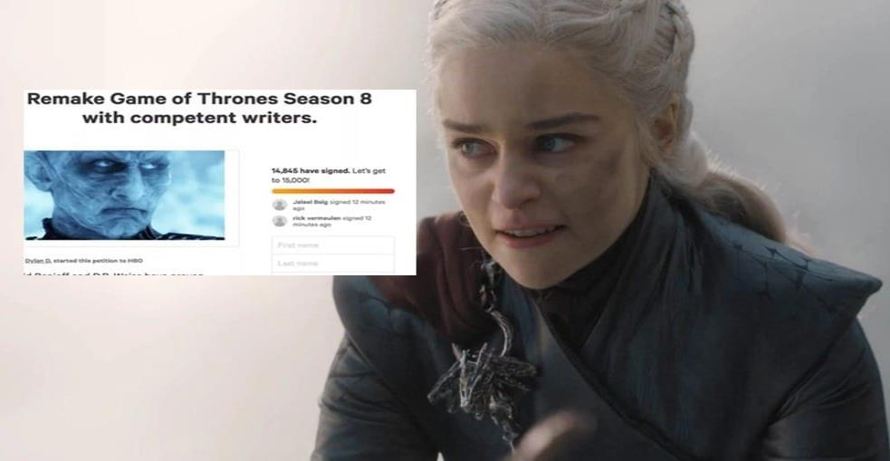 "Más de 370 mil fans firman petición en Change.org para que HBO rehaga la última temporada de ""Game Of Thrones"""