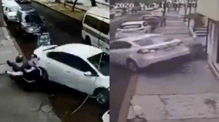 Video: Automovilista embiste a sujetos que lo intentaron asaltar