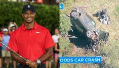 Tiger Woods sufre terrible accidente y es hospitalizado de emergencia